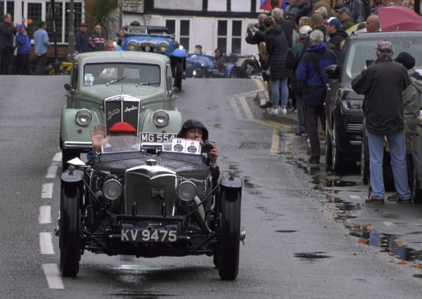 Tim Ely in his Riley