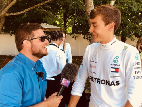 Mikes talks to George Russell