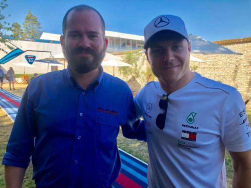 Jim with Valtteri Bottas at Goodwood